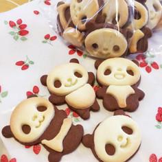 子供喜ぶ♪さくさくパンダの型抜きクッキー