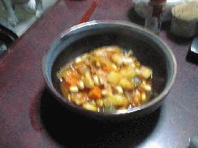 大豆とベーコンのトマト煮こみ