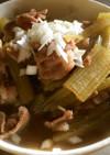 フキと豚肉のすき焼き風煮物♪らわんぶき