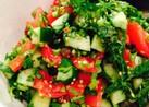きゅうりとトマトの香菜サラダ☆