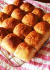簡単手捏ね*メープルくるみちぎりパン*