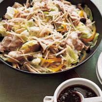 豚肉とキャベツのフライパン蒸し