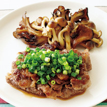 牛切り落とし肉のステーキ