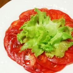 柔らかいトマトの切り方♪(薄く切る方法)