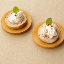 クリームチーズ&バニラシュガー&ホイップクリームのオープンサンド