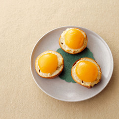 アーモンドクリーム&アプリコットのベーグルトースト