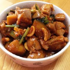 鳥肉とナッツの甘辛炒め