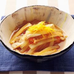 大根と厚揚げのさっと煮、ゆず風味