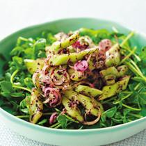 豆苗ときゅうりのゆかりサラダ