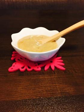 離乳食初期。2分できな粉バナナスムージー