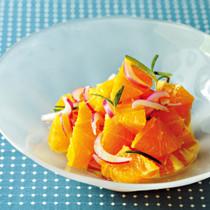 オレンジとローズマリーのサラダ