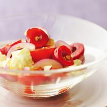 トマトとアメリカンチェリーのカプレーゼ