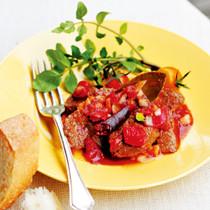 ステーキのトマトマリネ