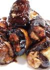 豚肉のナス巻き 焼き肉のタレ
