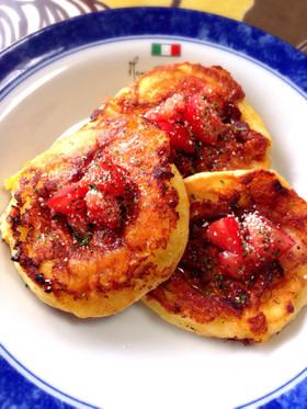 HMでトマトBチーズパンケーキ♪朝食に