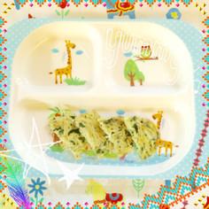 離乳食☆ツナとほうれん草のクリームパスタ