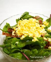オシャレ☆レタスとベーコンのミモザサラダの写真