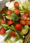 夏野菜のホットサラダ。