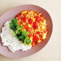 トマトの麻婆豆腐丼