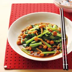青菜となめこの中華風炒め