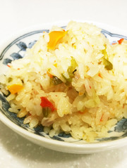 ☆炊飯器で簡単パプリカピラフ☆の写真