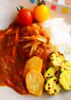 ツナと夏野菜たっぷりの和風カレー
