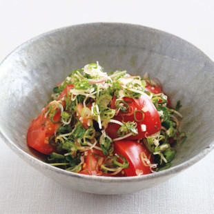 トマトと薬味の和えもの