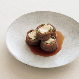 牛肉の豆腐巻き