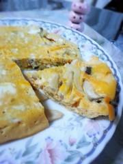 レンジで簡単☆お野菜と茸の和風オムレツの写真