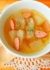 やわらか♪みずみずしい冬瓜コンソメスープ