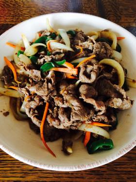 簡単!牛肉と野菜の焼肉のタレ炒め