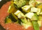 シャリシャリトマトの冷たい夏サラダ