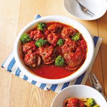 薄切り牛肉ロールのトマト煮こみ