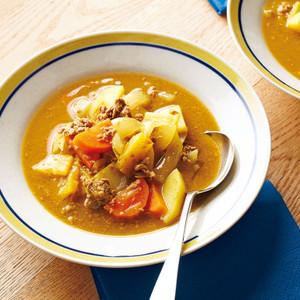 牛肉と野菜のカレースープ