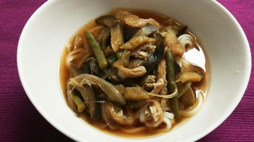 和の夏野菜たっぷりうどん(素麺にも♪)