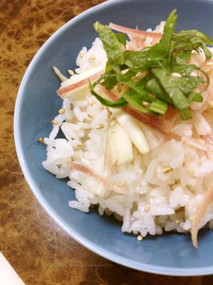 梅と新生姜の炊き込みご飯