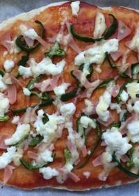 フライパンで、薄力粉のピザ
