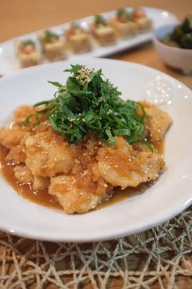 鶏むね肉のジンジャーオニオンソース