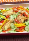 夏野菜と鶏肉のサッパリマリネ〜南蛮漬け風