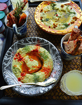 5分で枝豆フムス 夏野菜料理