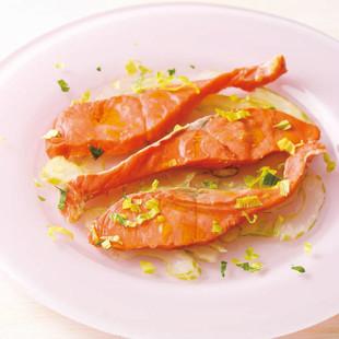 ゆで鮭のセロリソース