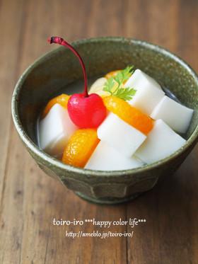寒天で基本の杏仁豆腐