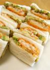 冷凍海老カツとアボカド☆サンドイッチ