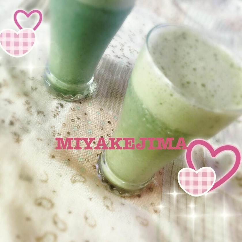 アシタバ豆乳ジュース