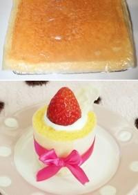 共立て♡簡単ふわふわロールケーキ生地