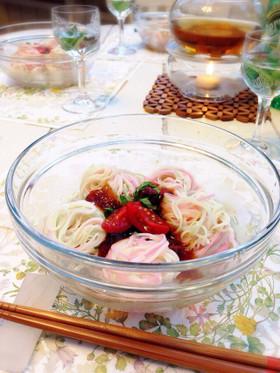 あんにゃの七夕ジュレ素麺♡