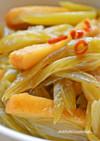 フキと天ぷらの胡麻油炒め煮