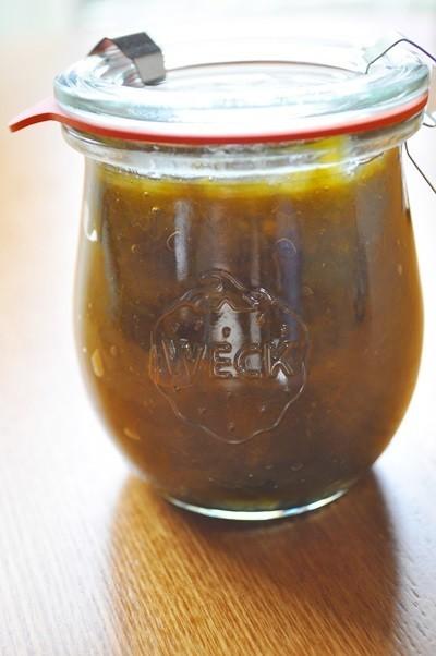 梅シロップの梅deジャム。