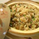 土鍋で☆納豆炊き込みご飯