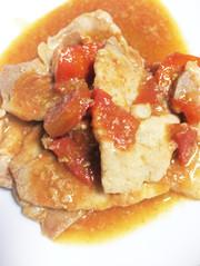 簡単さっぱりトマトと豚の生姜焼きの写真